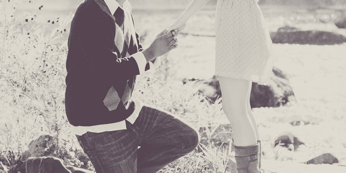 country wedding proposal