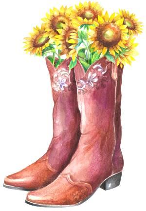 Cowboy coots watercolor